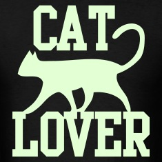 CAT LOVER with funky type and cute cat pussy T-Shirts