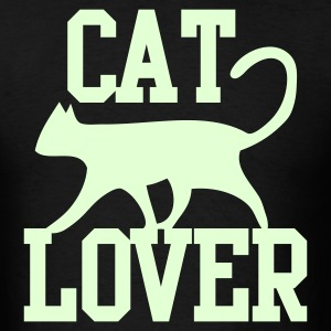 CAT LOVER with funky type and cute cat pussy T-Shirts - Men's T-Shirt