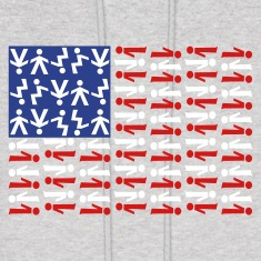 American Skydiving Flag Hoodies