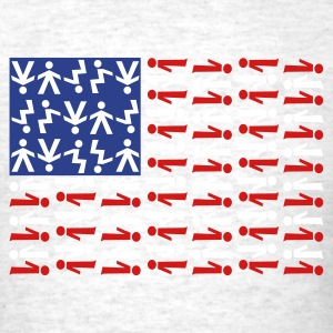 American Skydiving Flag T-Shirts - Men's T-Shirt