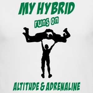 My Hybrid Runs On Altitude & Adrenaline - Men's Long Sleeve T-Shirt by Next Level