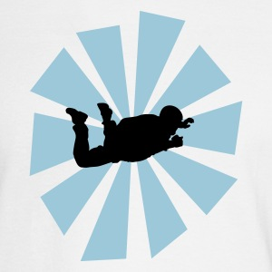 Skydiver With Sun Rays - Men's Long Sleeve T-Shirt