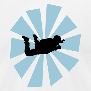 Skydiver With Sun Rays - Men's T-Shirt by American Apparel