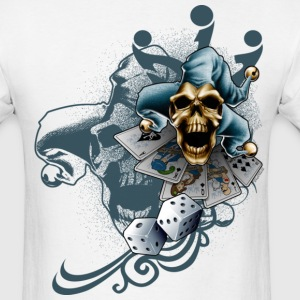Jester Skull by RollinLow T-Shirts - Men's T-Shirt