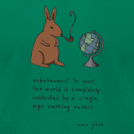 Design ~ pipe smoking rabbit - Mens color