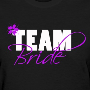 Team Bride Purple/Black -Maid of Honor Shirt - Women's T-Shirt