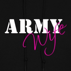 Army Wife White/Pink Hoodies