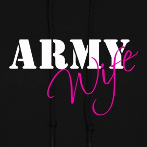 Army Wife White/Pink Hoodies - Women's Hoodie