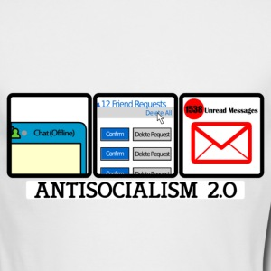 Antisocial 2.0 Unbranded | Mens AA Long Sleeve - Men's Long Sleeve T-Shirt by Next Level
