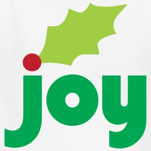 Joy with Holly Leaf and Berry Children's T-Shirt - Kids' T-Shirt