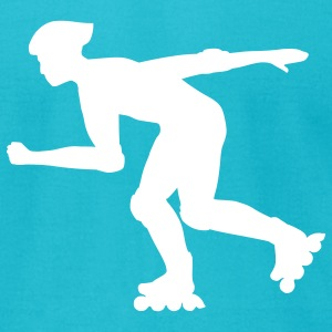 Inline skater T-Shirts - Men's T-Shirt by American Apparel