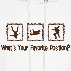What's Your Favorite Position? Brown Hoodies - Men's Hoodie