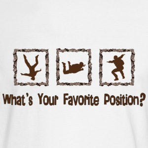 What's Your Favorite Position? Brown Long Sleeve Shirts - Men's Long Sleeve T-Shirt