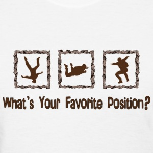 What's Your Favorite Position? Brown Women's T-Shirts - Women's T-Shirt
