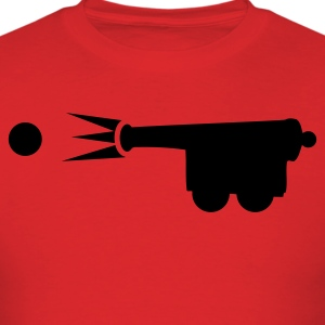 old style cannon shooting cannon ball T-Shirts - Men's T-Shirt