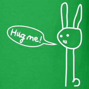 Hug me! Bunny Rabbit Hare Love Friendship Cute T-Shirts - Men's T-Shirt