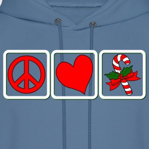 PEACE-LOVE-CANDY CANE - Men's Hoodie