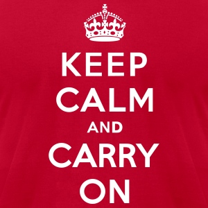 Keep Calm and Carry On (vector) T-Shirts - Men's T-Shirt by American Apparel