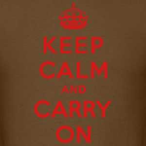 Keep Calm and Carry On (vector) T-Shirts - Men's T-Shirt
