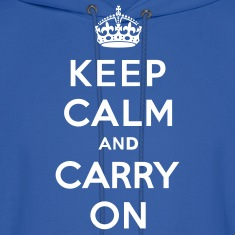Keep Calm and Carry On (vector) Hoodies