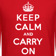 Design ~ Keep Calm and Carry On Mens Sweatshirt