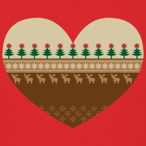 Scandinavian Christmas Heart - Men's T-Shirt