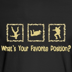 What's Your Favorite Position? Cream Long Sleeve Shirts - Men's Long Sleeve T-Shirt