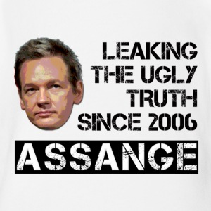 Assange Ugly Truth Wikileaks Baby Bodysuits - Short Sleeve Baby Bodysuit