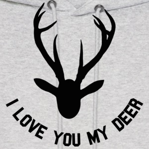 i love you my deer Hoodies - Men's Hoodie
