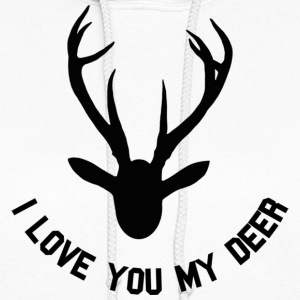 i love you my deer Hoodies - Women's Hoodie