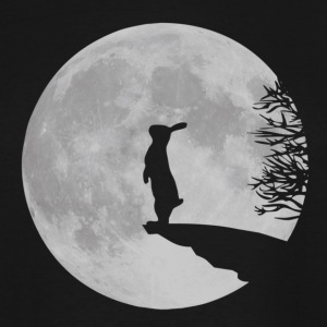 werewolf bunny bunnies rabbit hare moon fullmoon howl T-Shirts - Men's Tall T-Shirt