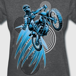 Dirt Biker Blue-Psycho - Women's T-Shirt
