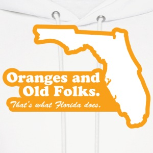 Florida - Oranges and Old Folks Hoodie - Men's Hoodie