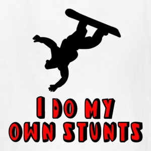 Snowboarding I Do My Own Stunts Kids' Shirts - Kids' T-Shirt