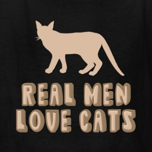 Real Men Love Cats Design For Dark Colors Kids' Shirts - Kids' T-Shirt