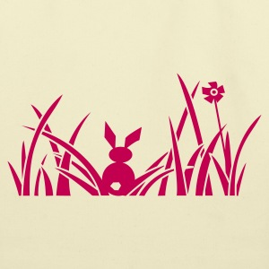 bunny bunnies rabbit hare meadow flower Bags  - Eco-Friendly Cotton Tote