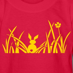 bunny bunnies rabbit hare meadow flower Kids' Shirts - Kids' Long Sleeve T-Shirt