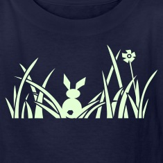 bunny bunnies rabbit hare meadow flower Kids' Shirts