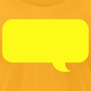 speech bubble new T-Shirts - Men's T-Shirt by American Apparel