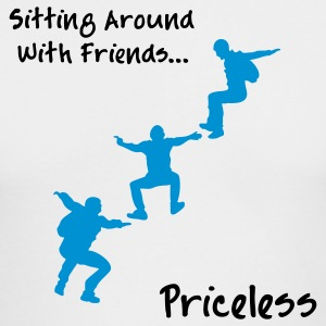 Sitting Around With Friends...Priceless - Men's Long Sleeve T-Shirt by Next Level