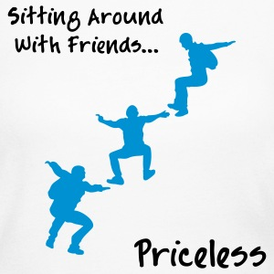 Sitting Around With Friends...Priceless - Women's Long Sleeve Jersey T-Shirt