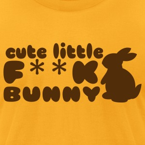 Cute little F**K bunny hockey puck girls shirt T-Shirts - Men's T-Shirt by American Apparel
