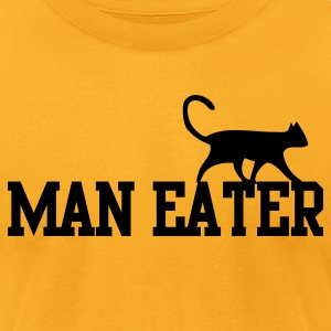 MAN EATER maneater CAT pussy T-Shirts - Men's T-Shirt by American Apparel