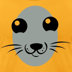 really cute seal face T-Shirts - Men's T-Shirt by American Apparel
