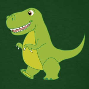 T-Rex Cartoon Dinosaur - Men's T-Shirt