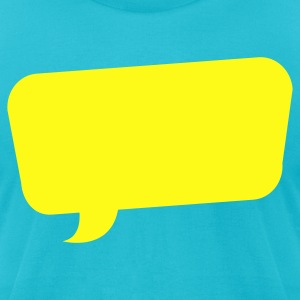 speech bubble funky turned T-Shirts - Men's T-Shirt by American Apparel