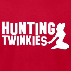 hunting twinkies teenage girls NSFW T-Shirts - Men's T-Shirt by American Apparel