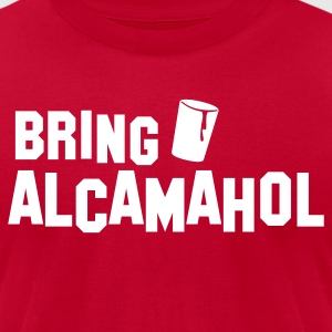 BRING ALCAMAHOL beer glass party T-Shirts - Men's T-Shirt by American Apparel