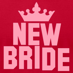 NEW BRIDE with a queens princess crown T-Shirts - Men's T-Shirt by American Apparel