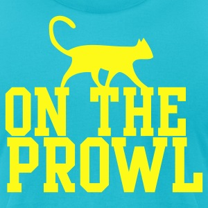 ON THE PROWL with pussy cat and type T-Shirts - Men's T-Shirt by American Apparel